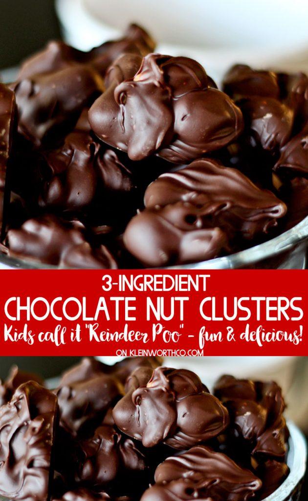 Chocolate Nut Clusters (or Reindeer Poo) recipe