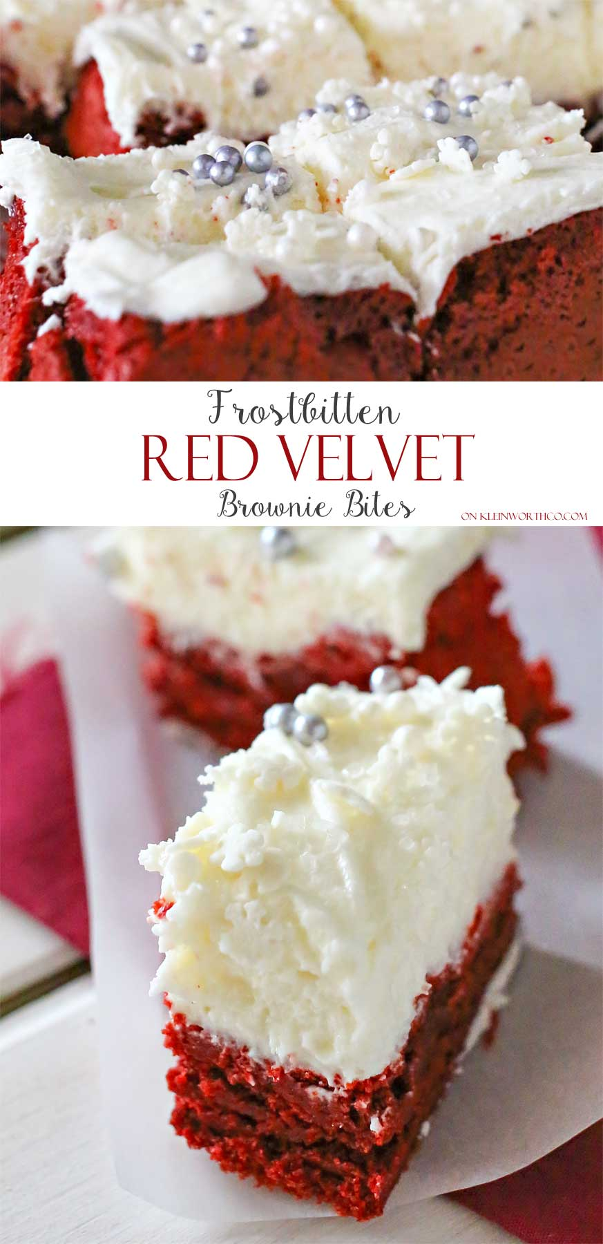 Frostbitten Red Velvet Brownie Bites