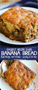Easiest Recipe Ever Banana Bread