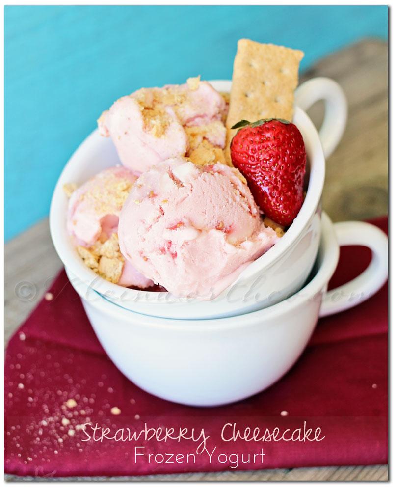 Strawberry Cheesecake Frozen Yogurt