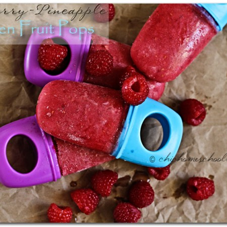 Raspberry-Pineapple Frozen Fruit Pops