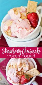 Strawberry Cheesecake Frozen Yogurt