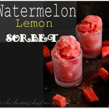 Watermellon Lemon Sorbet