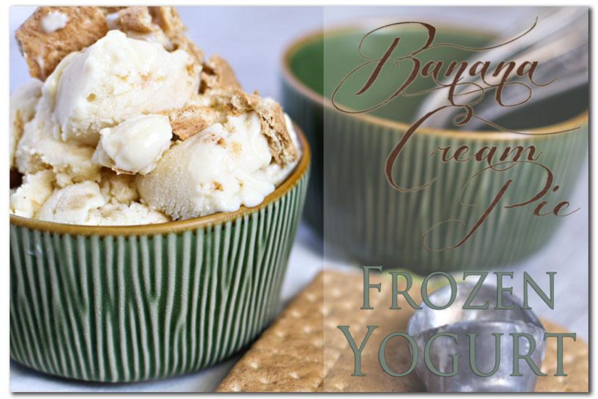 Banana Cream Pie Frozen Yogurt