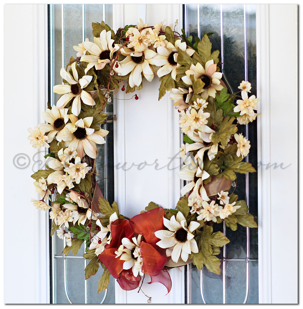 Early Fall Wreath, Sunflower Wreath