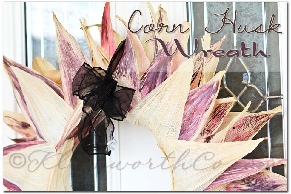 Corn Husk Wreath {DIY}