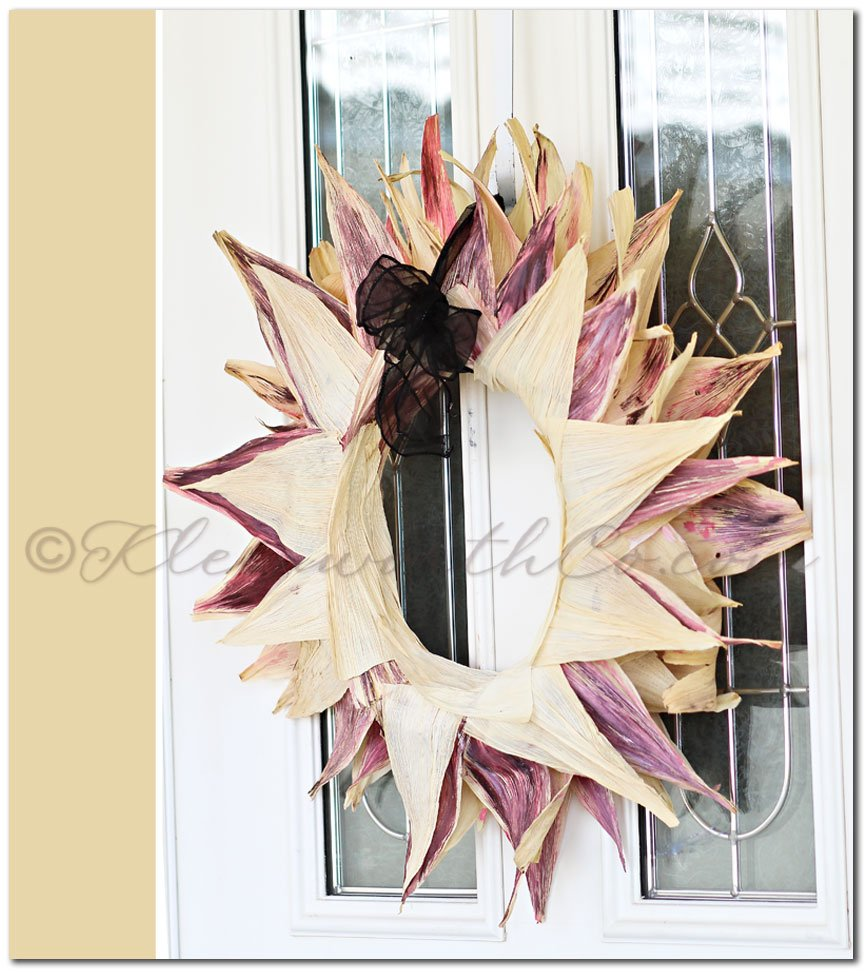 Corn Husk Wreath {DIY}