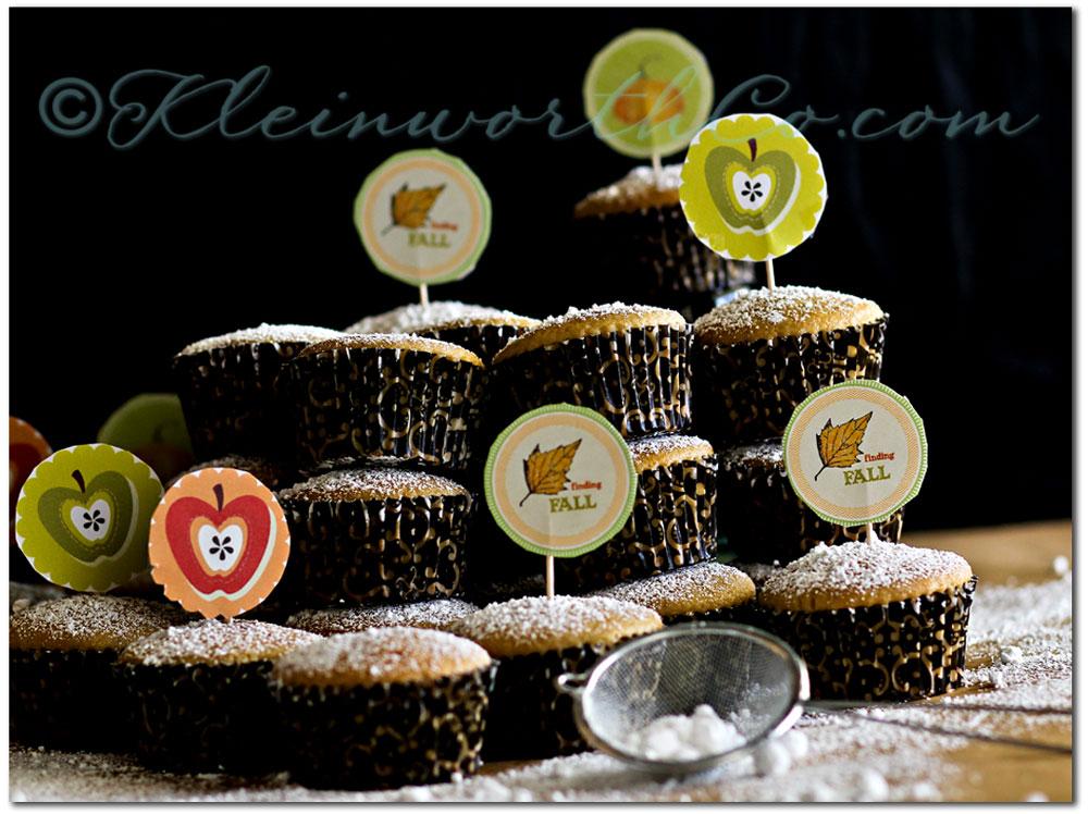 Fall Cupcakes & Life n' Reflection Fall Transfers