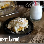 Lemon Lime Soda Cobbler, recipe, easy peach cobbler