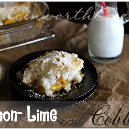 Lemon Lime Soda Cobbler, recipe, easy peach cobbler
