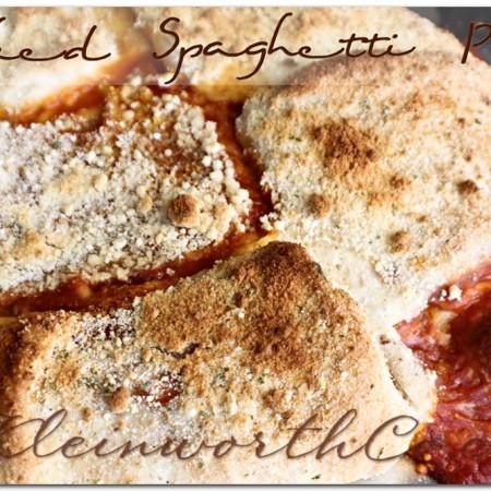 Baked Spaghetti Pie & Chef Boyardee