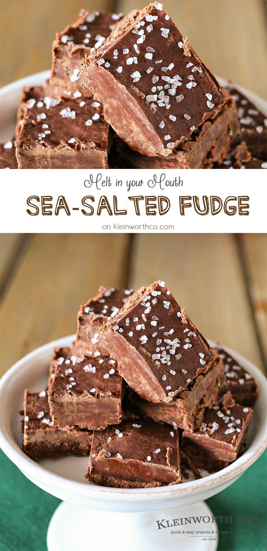 Sea-Salted Fudge