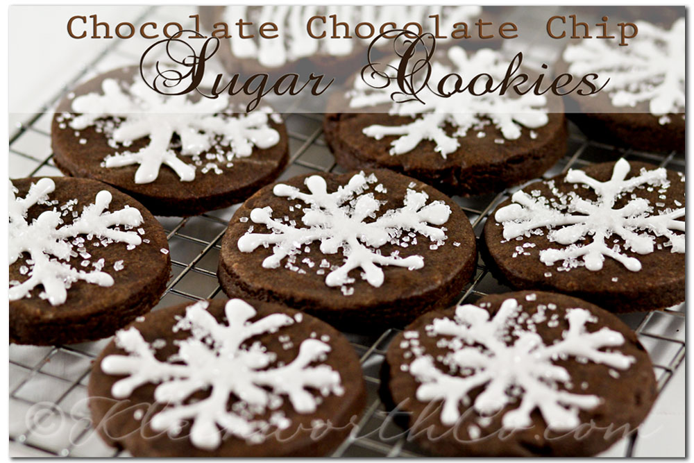 Chocolate Chocolate Chip Sugar Cookies, chocolate sugar cookie recipe