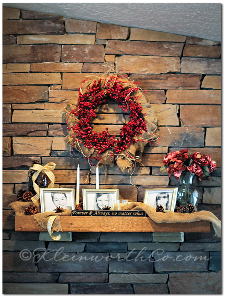Rustic Winter Mantle {DIY}