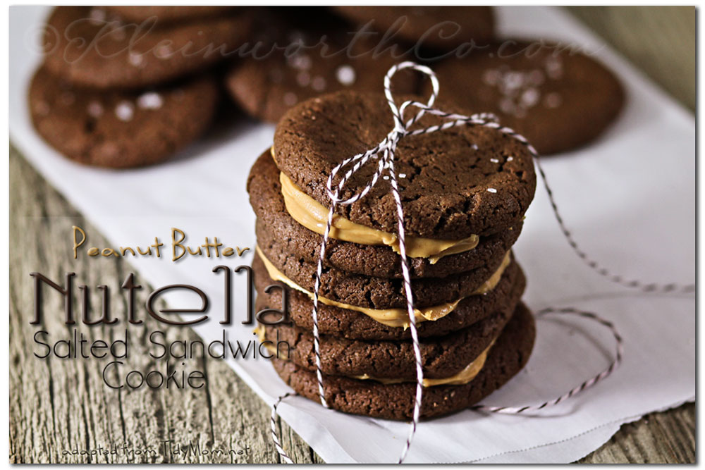 Peanut Butter Nutella Salted Sandwich Cookies, Top 12 Chocolate Recipes from Kleinworthco.com