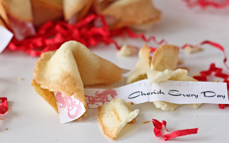 Homemade Fortune Cookies & Free Printable