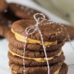 Peanut Butter Nutella Salted Sandwich Cookies