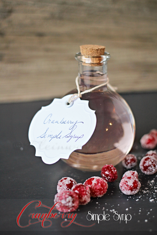 Cranberry Simple Syrup, perfect to use in drinks, cocktails or treat recipes! So easy and adds a festive touch to any recipe calling for simple syrup!