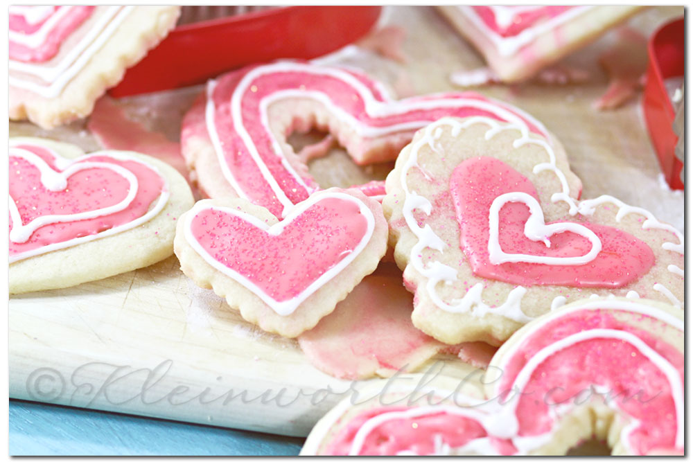Whimsical Marbled Valentine Cookies, sugar cookies