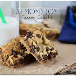 Almond Joy Cream Delight Bars from Kleinworth & Co. #recipe