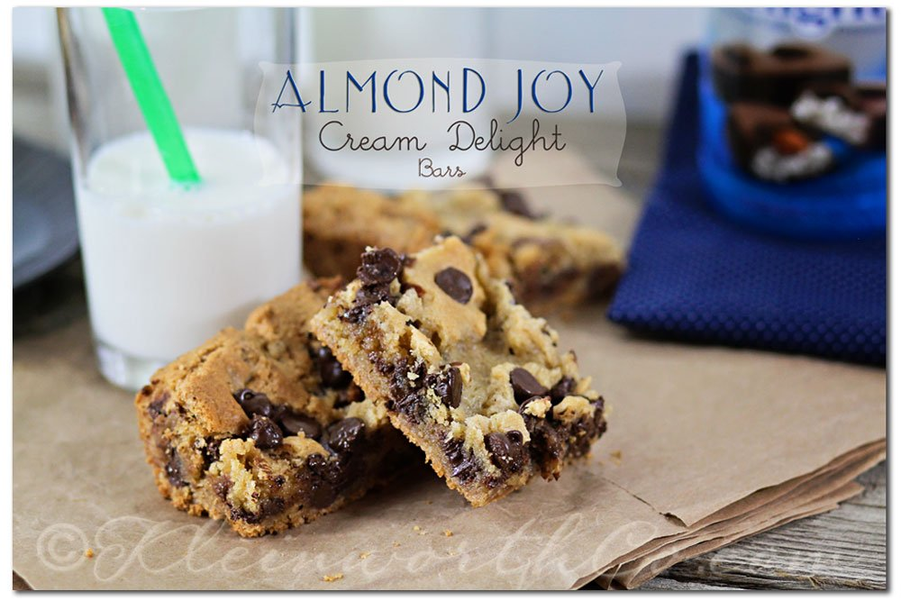 Almond Joy Cream Delight Bars from Kleinworth & Co. #recipe