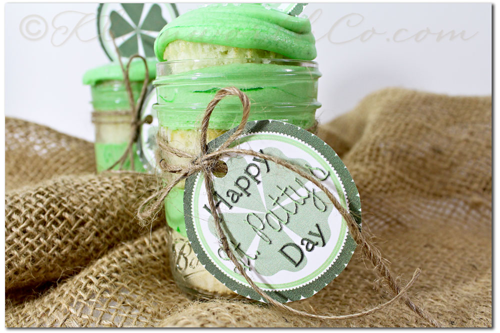 St. Patty's Day Cupcake Jars & Free Printable
