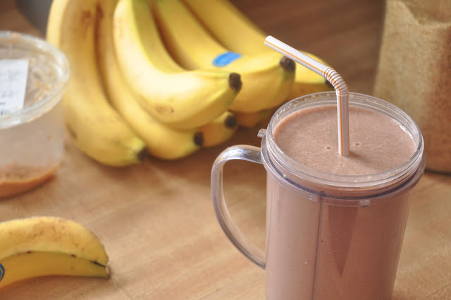 Peanut Butter, Chocolate & Banana Smoothie