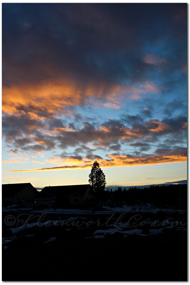 scavenger hunt sunday, blue, northern idaho sunset