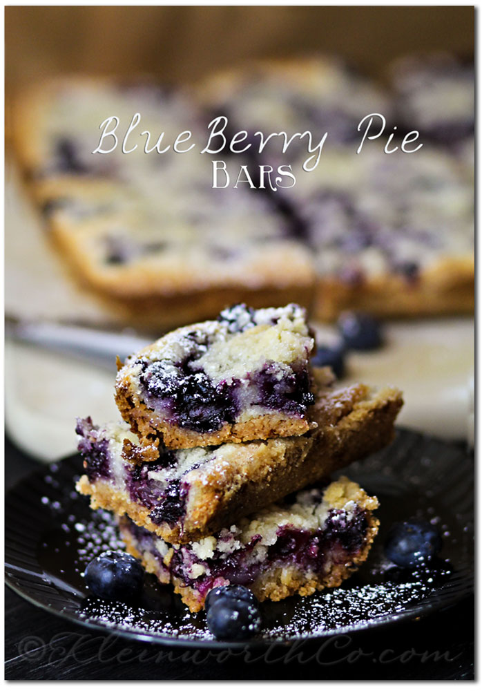 Blueberry Pie Bars from www.kleinworthco.com