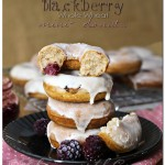 Blackberry Whole Wheat Mini-Donuts {Recipe}