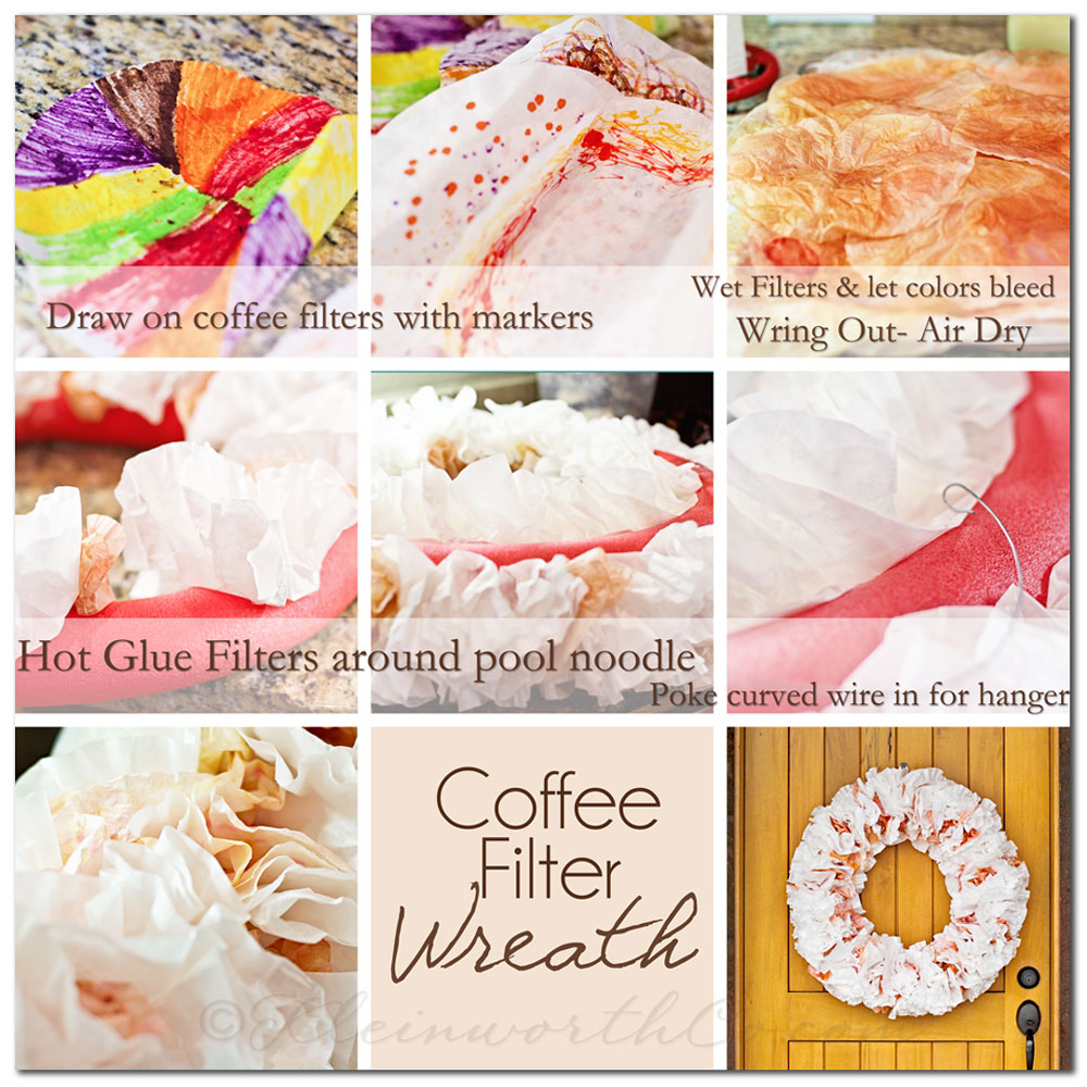 Coffee Filter Wreath {Tutorial}