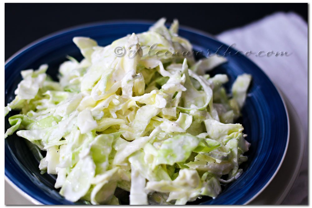 Garlic Cabbage Slaw {Recipe}