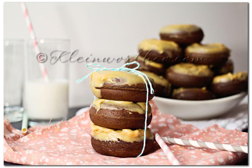 Chocolate Cake Donuts & Peanut Butter Glaze, recipe