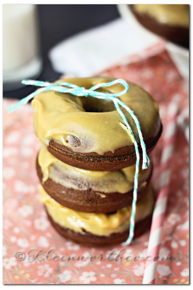 Chocolate Cake Donuts & Peanut Butter Glaze, recipe