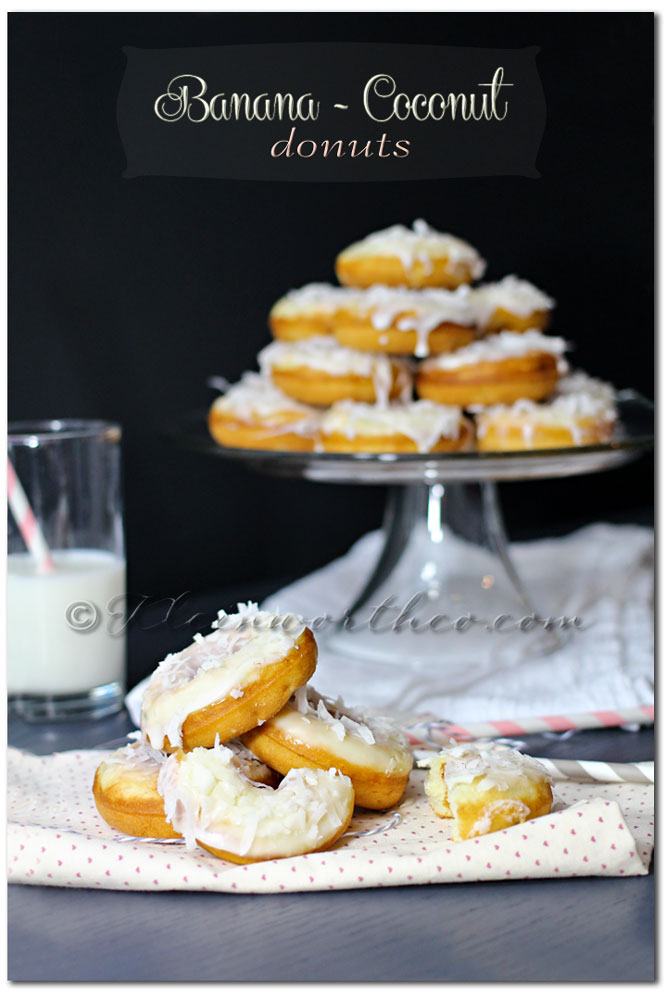 Banana Coconut Donuts, recipe