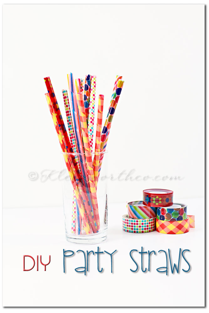 DIY Party Straws ~ Project 52 ~ Week 14