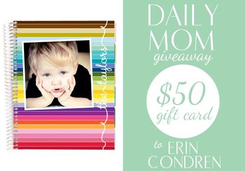 $50 gift card giveaway to Erin Condren