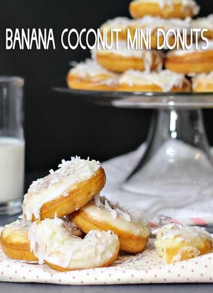 Banana Coconut Donuts