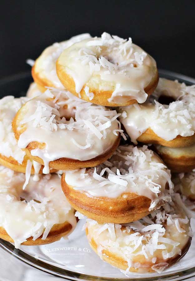 breakfast recipe Banana Coconut Donuts