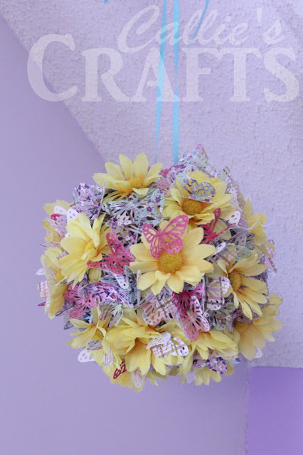hanging butterfly ball craft