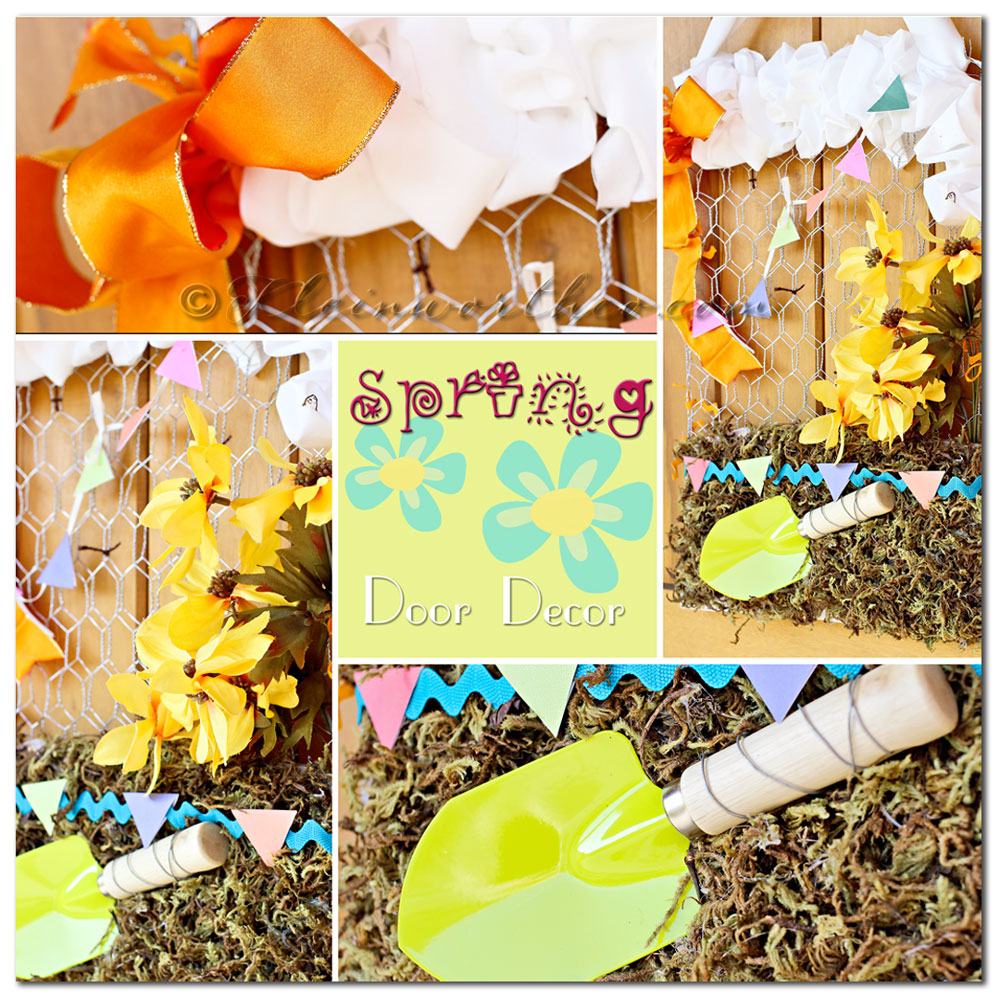 Spring Door Decor ~ Your Best Weekly, decorating for spring, chicken wire crafts