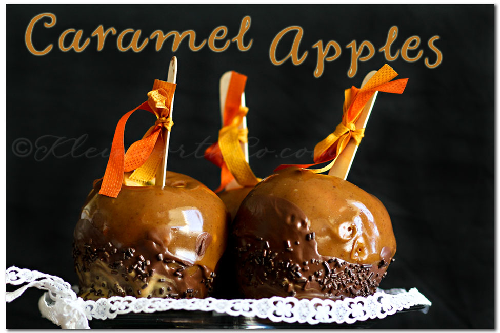 Chocolate Dipped caramel apples, Top 12 Chocolate Recipes from Kleinworthco.com