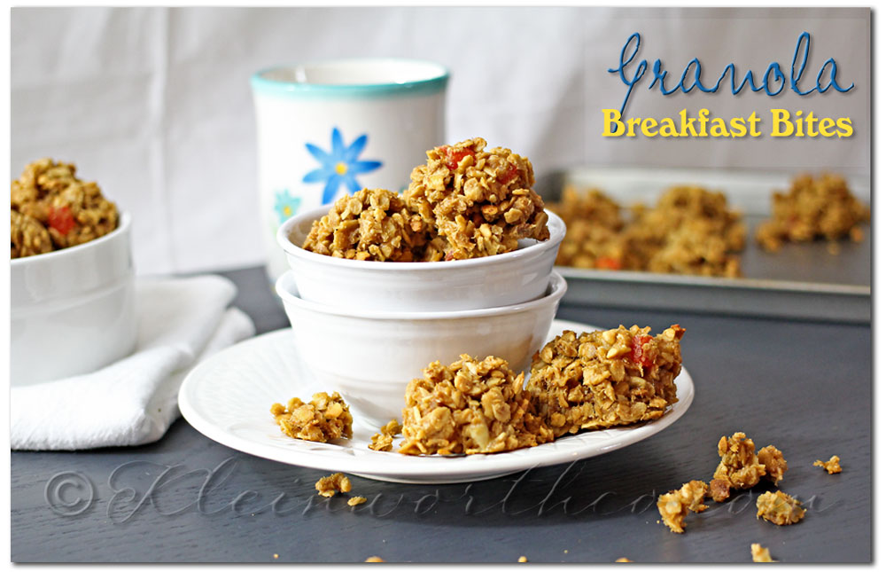 Granola Breakfast Bites {Recipe}