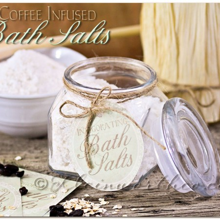 DIY Coffee Infused Bath Salts & 5 Homemade Mother's Day Gifts