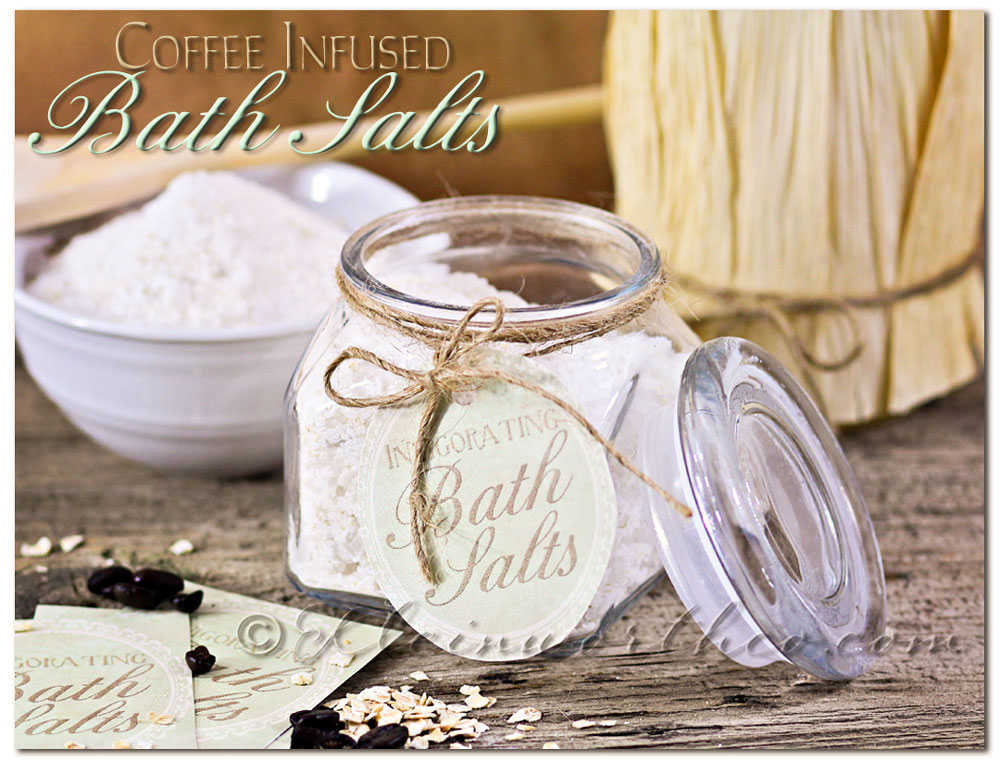 DIY Coffee Infused Bath Salts & 5 Homemade Mother's Day Gifts on kleinworthco.com