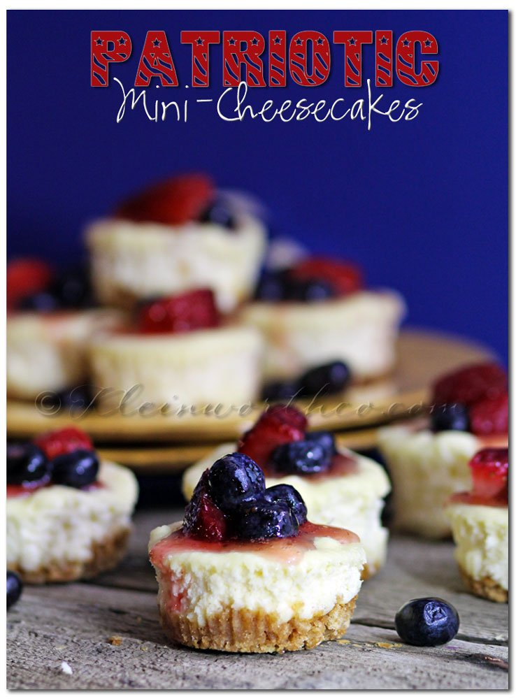 Patriotic Mini-Cheesecakes - Kleinworth and Co.