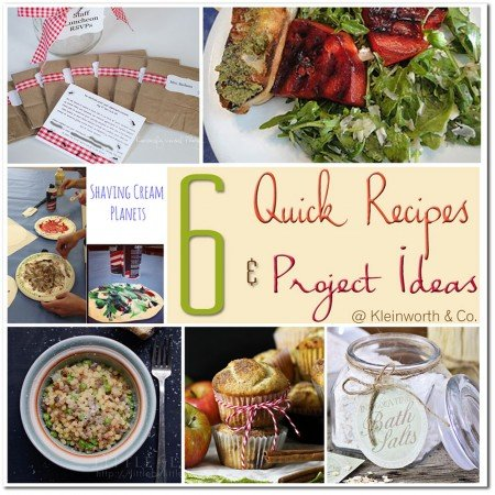 6 Quick Recipes & Project Ideas