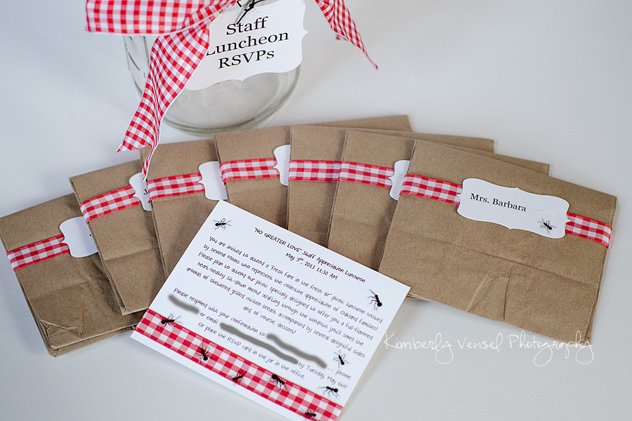 6 Quick Recipes & Project Ideas, picnic luncheon party favors & invitations