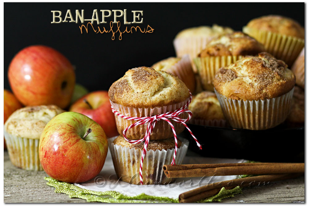 Ban-Apple Muffins ,banana muffins, apple muffins, breakfast muffins, recipe