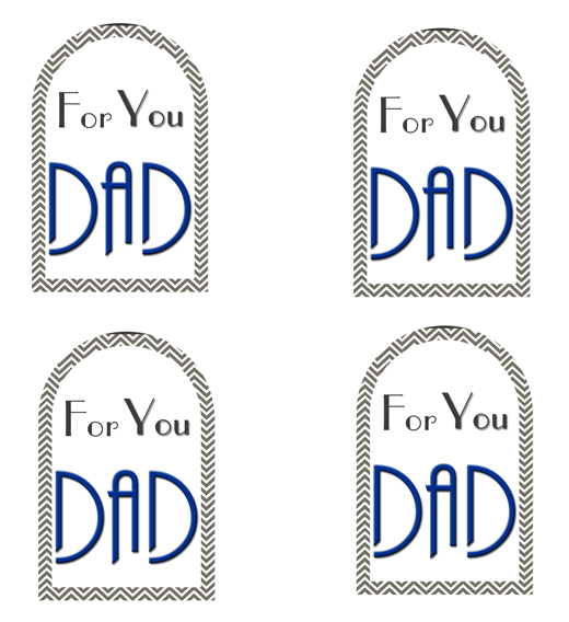 photo regarding Free Printable Fathers Day Tags named Selfmade Fathers Working day Reward - Kleinworth Co
